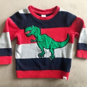 GAP Toddler Striped Sweater Dinosaur